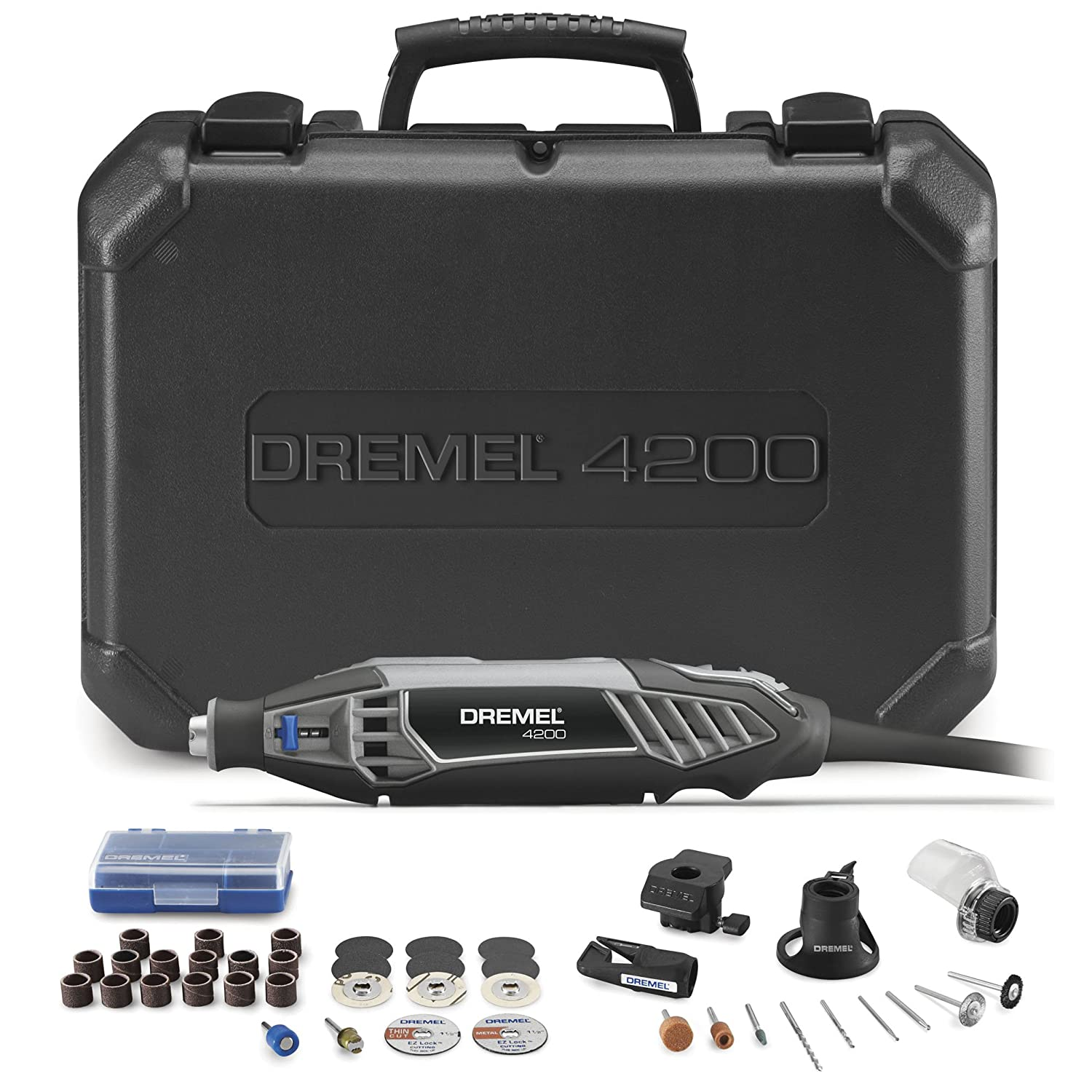 Dremel 4200-4/36 High Performance Rotary Tool Kit with EZ Change, 4-Attachments and 36-Accessories