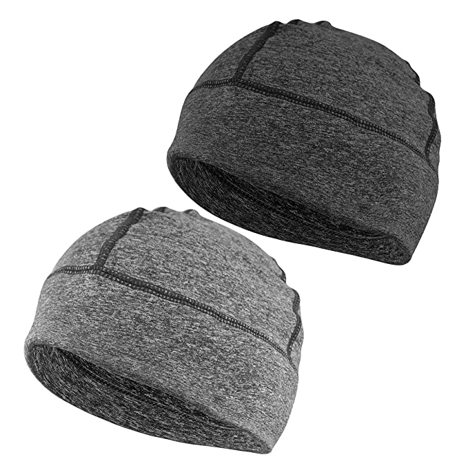 Headshion Skull Cap, Men & Women Multifunctional Headwear Hard Hat Helmet Liner Cotton Beanie Sleep Caps - 2 Pack best men's beanies