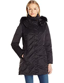f5b48f0c4d443 Amazon.com  Add Down Women s Down Coat with Fur Border  Clothing