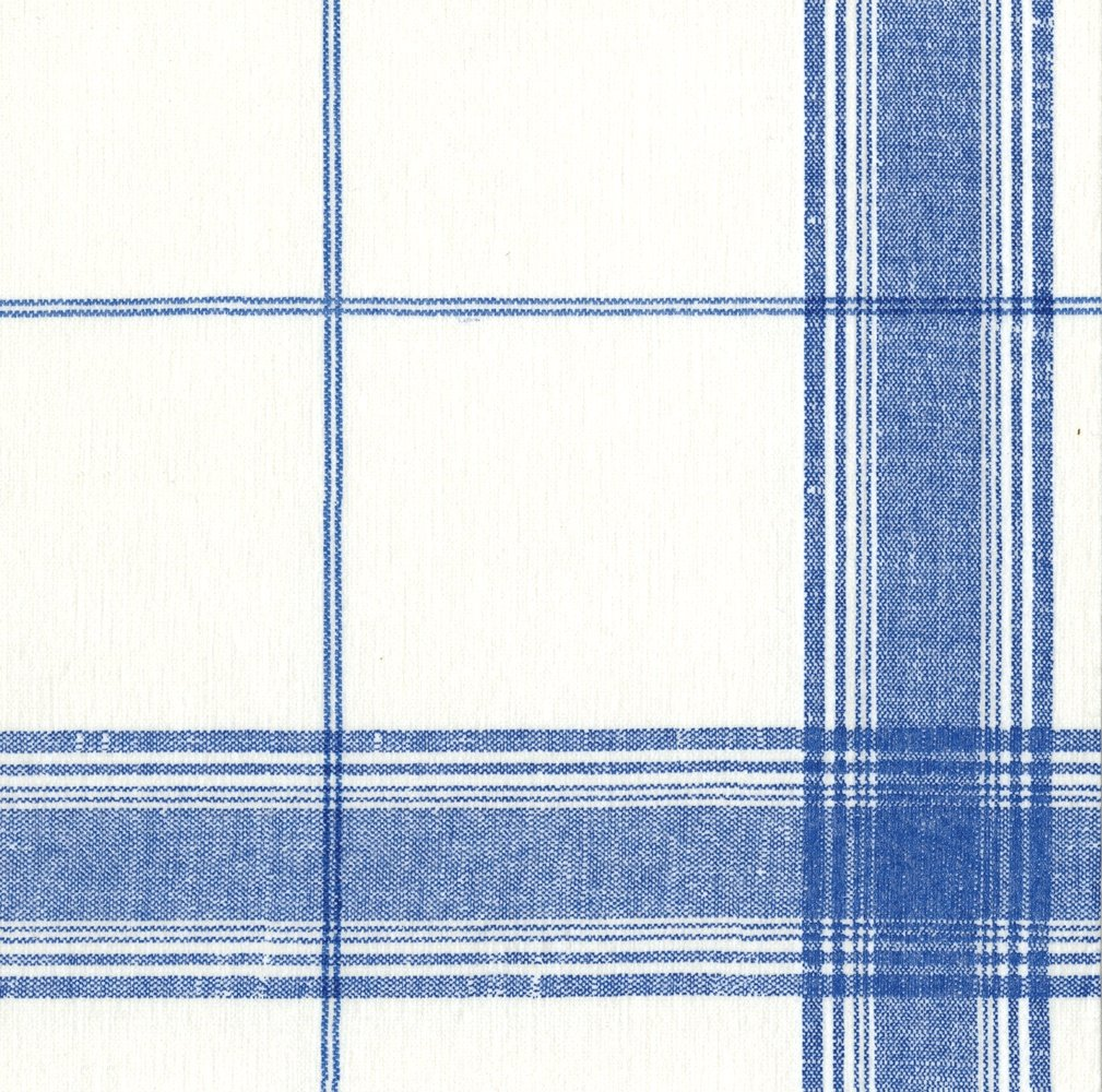 Entertaining with Caspari Belgian Linen Paper Linen Cocktail Napkins (15 Pack), Blue