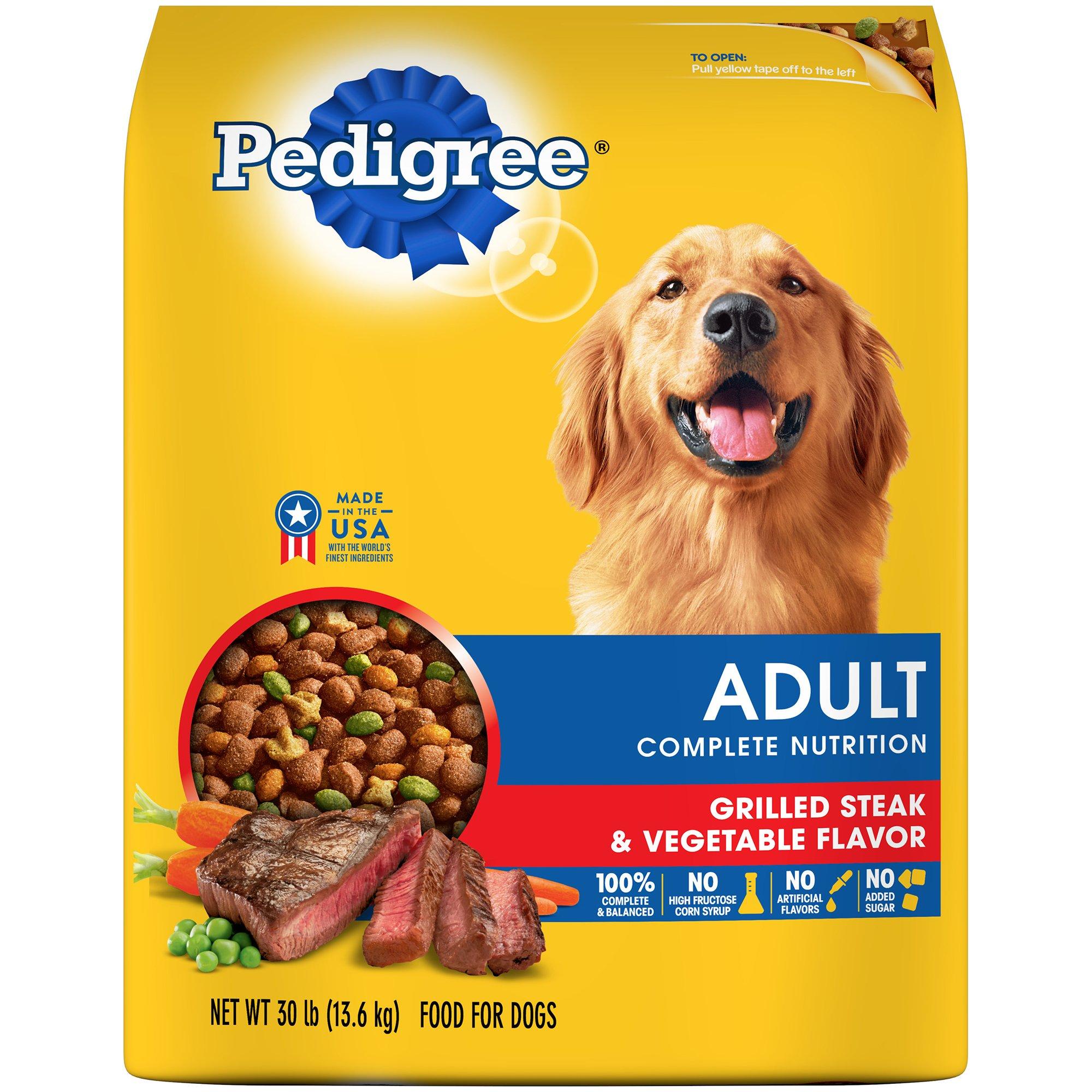 Pedigree Adult Dry Dog Food – Grilled Steak & Vegetable Flavor