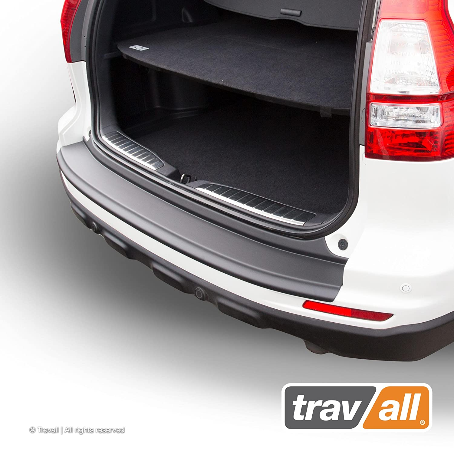 Travall Protector TBP1018P - Vehicle-Specific Black Plastic Moulded Rear Bumper Protector [Smooth]