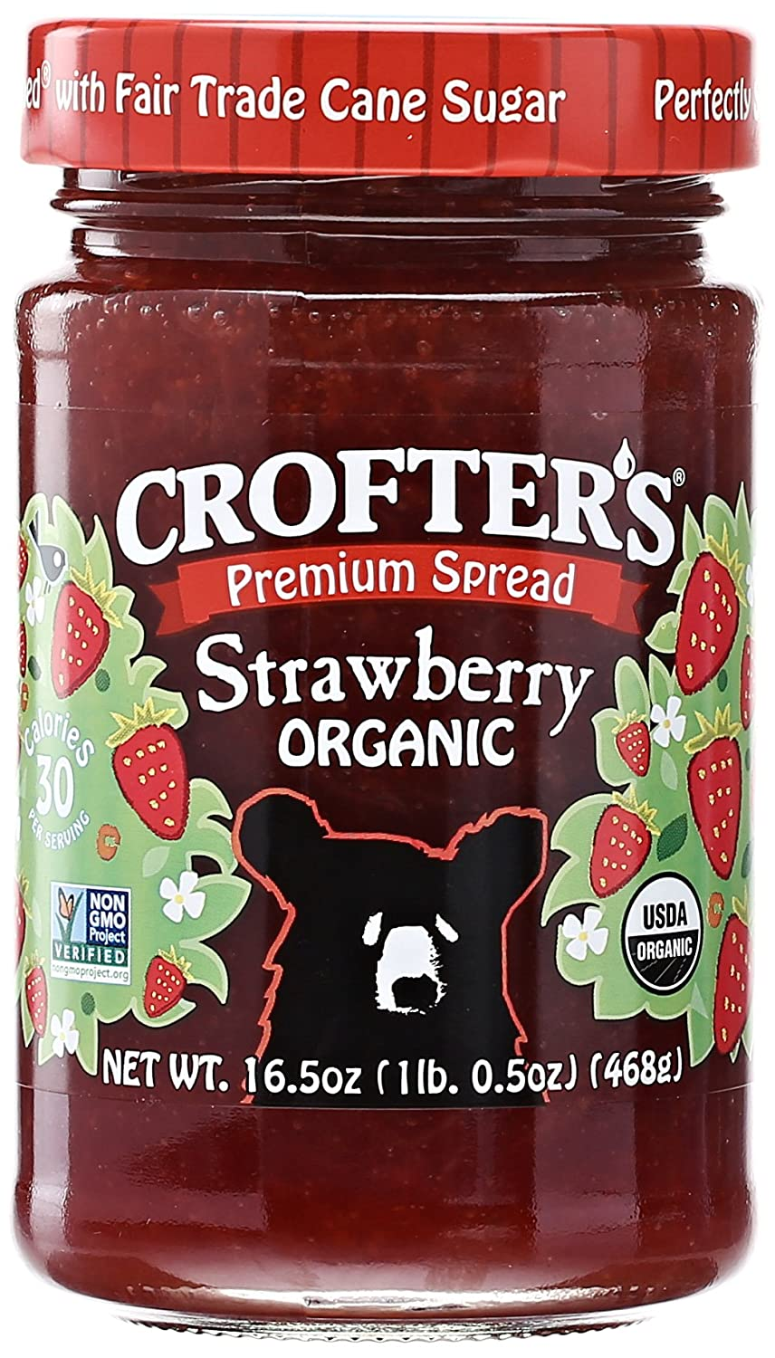 Crofters Organic Strawberry Premium Spread, 16.5 oz