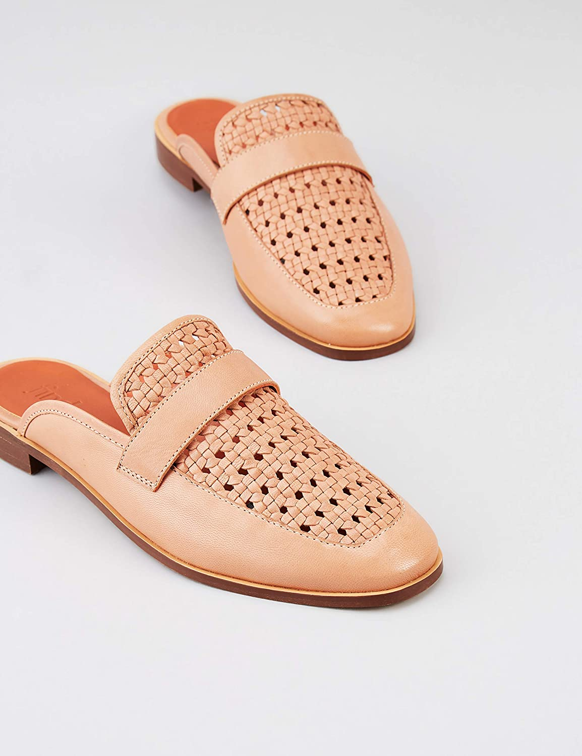 Marque Backless Woven Loafer Mules femme find
