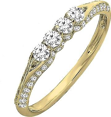 anillo diamante rosa