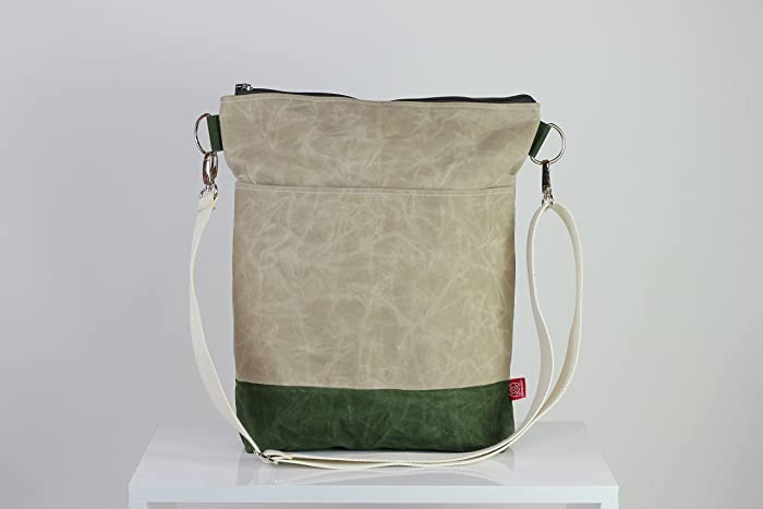 Amazoncom Waxed Canvas Crossbody Tote Bag Removable Cotton Strap