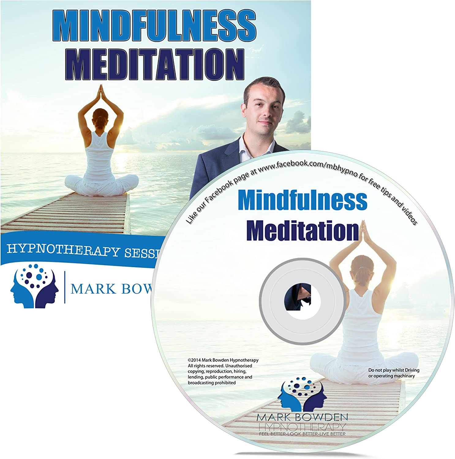 Mindfulness Meditation Self Hypnosis CD / MP3 and APP (3 IN 1 PURCHASE!) - A Guided Relaxation CD / Guided Meditation CD to help you relax