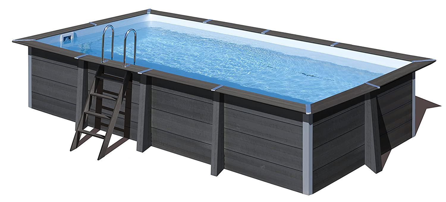 Piscina desmontable GRE de composite rectangular altura 124 cm KPCOR60: Amazon.es: Hogar
