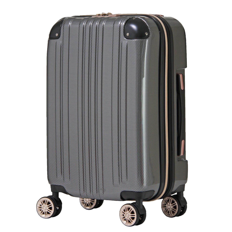 【レジェンドウォーカー】LEGEND WALKER スーツケース アルミフレーム 鏡面ボディ TSAロック 軽量 機内持込~大型 5122 B0798MG7C9 機内持込サイズ(ファスナー)|カーボン カーボン 機内持込サイズ(ファスナー)