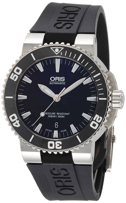[ORIS]オリス 腕時計 アクイスデイト ブラック ラバー 733 7653 4154R メンズ 【正規輸入品】 B009VDFRZK