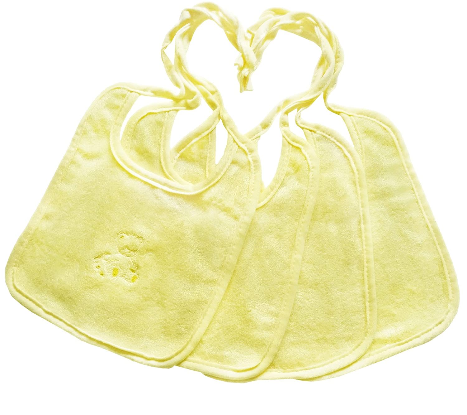 BambooMoon Baby Bibs and Burp Cloths. 100% Bamboo. Unbelievably Soft, Antibacterial, Naturally Anti-fungal, Absorbent, Durable and Sustainable. Set of 4. Greenthology Inc.
