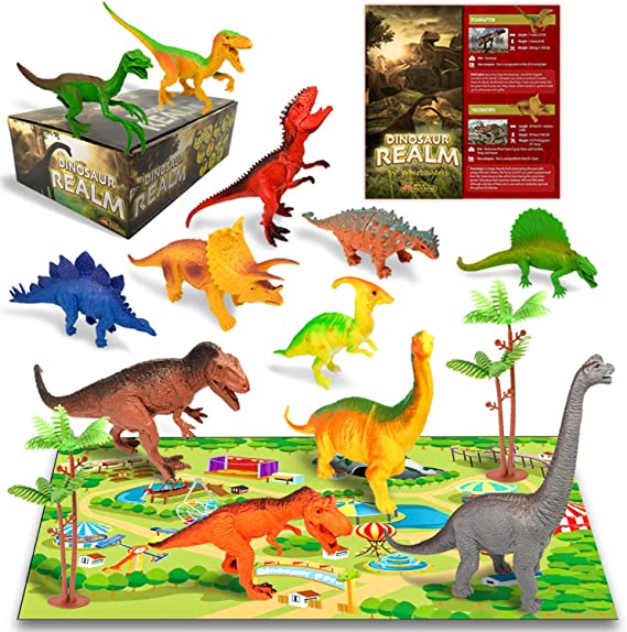 ARF ours grande taille en Plastique Dinosaure Figure KIDS Triceratops New BOXED T59