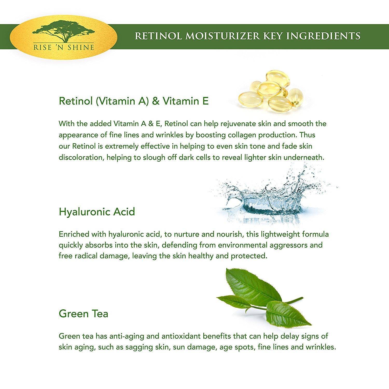 Amazon.com : Crema Retinol Hidratante Anti-Envejecimiento De Potencia Maxima - Crema Reafirmante Para Piel Sensible - Tratamiento : Beauty