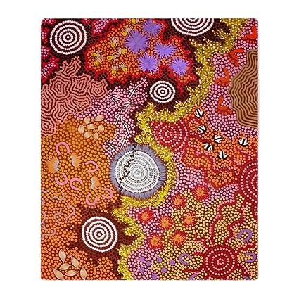 Amazon CafePress AUSTRALIAN ABORIGINAL ART 40 Soft Fleece Extraordinary Red Throw Blanket Australia