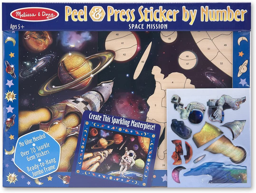 Melissa /& Doug Peel and Press Sticker by Number Space Mission