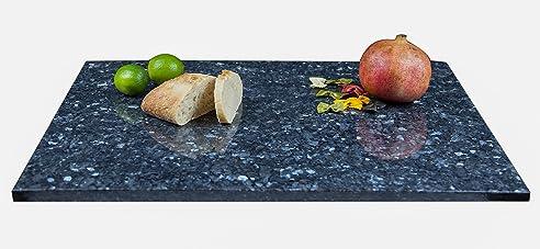 groe arbeitsplatte kchenplatte servierplatte oder tischplatte aus poliertem granit dunkelblau grau mit design - Kchen Mit Weien Schrnken Und Arbeitsplatten Aus Granit
