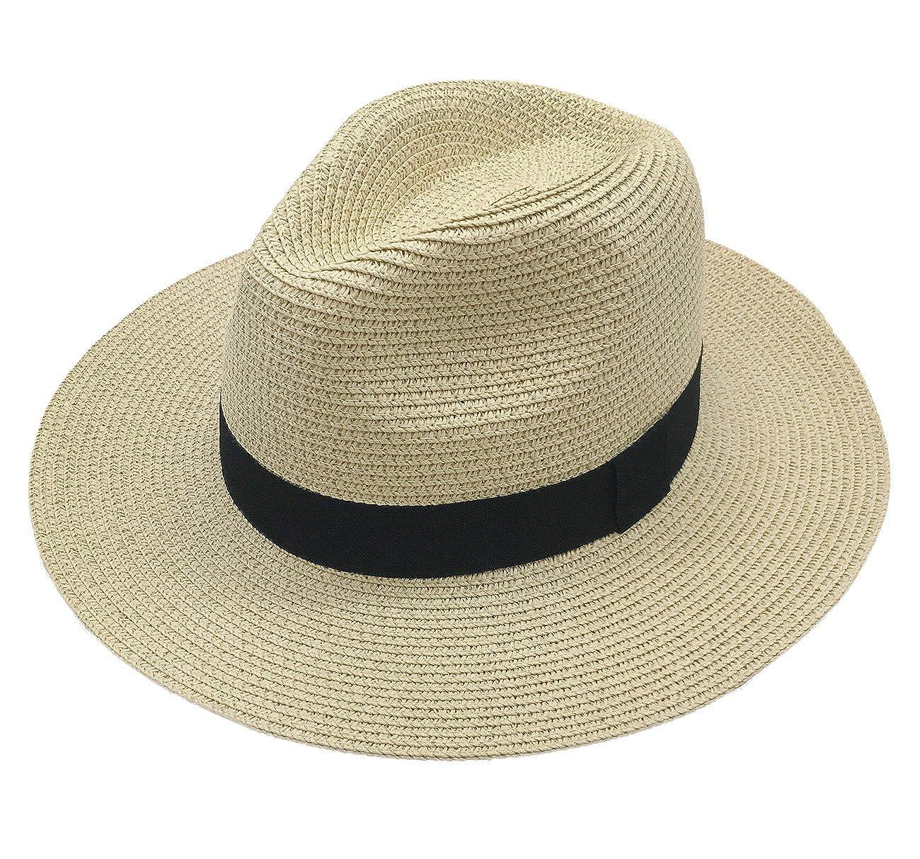 9dba6d3b Online Cheap wholesale Straw Fedora Panama Hat Packable Fashion Summer Sun  Hats Women Beach Wide Brim Sun Hats Suppliers