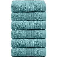 TRIDENT Juego paño de Lavado - Soft & Plush - 100% algodón, 500 gsm, 6 Pieza Juego paño de Lavado, súper Absorbente…