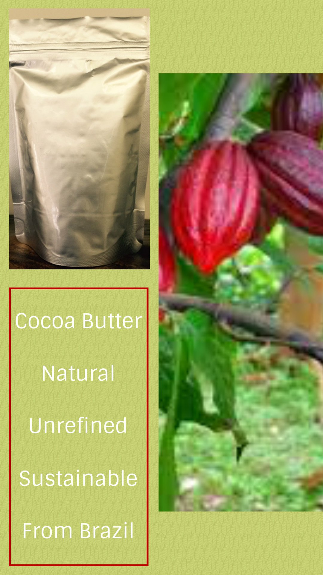 Cocoa Butter Brazil - Natural Unrefined - 64 Oz (4 lb) - 100% Natural - WHOLESALE PRICE and - Extraction: Cold Pressed by Paris Fragrances & Cosmetics Supplies, INC (Image #1)