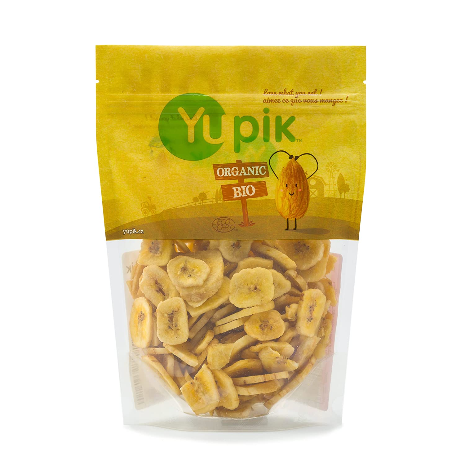 Yupik Organic Sweetened Banana Chips, 0.40Kg