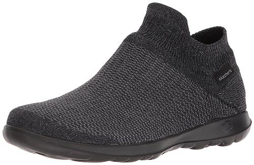 Skechers Performance Womens Go Walk Lite-15372 Sneaker,black/gray,5 M