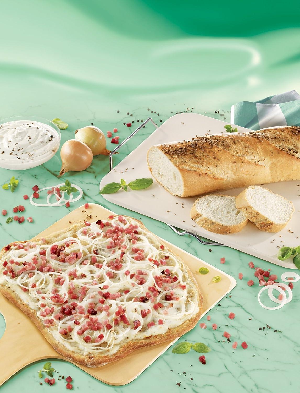Leifheit Square Ceramic Pizza Stone 38 x 33 cm - Cream/White 03160
