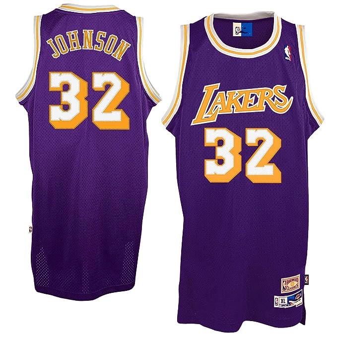 promo code b645c 20f35 Amazon.com: Magic Johnson Los Angeles Lakers Youth Purple ...