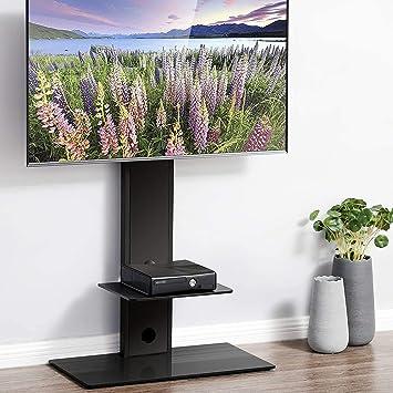 FITUEYES Giratorio Soporte de Suelo con 2 Estantes para TV LCD LED OLED Plasma Plano Curvo 32-65 Pulgadas TT207501MB: Amazon.es: Electrónica