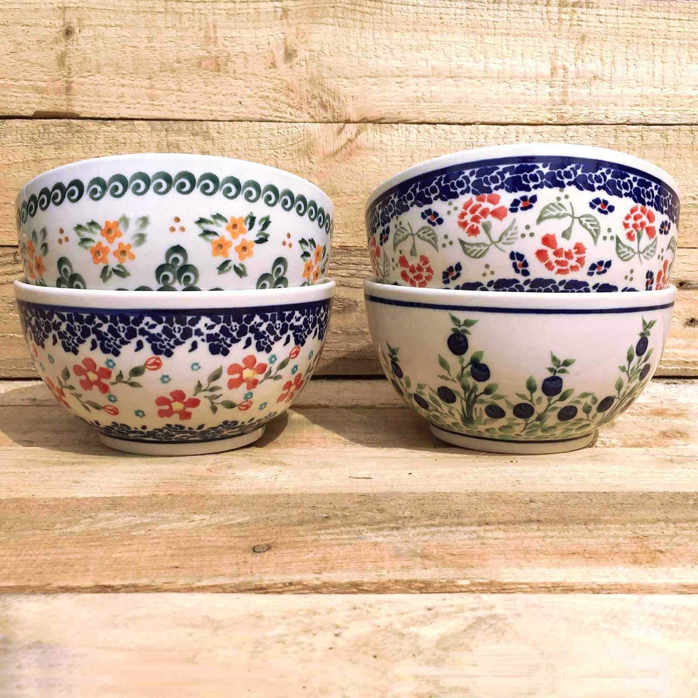 MidaART Bunzlauer Keramik M/üslischalen Sch/üsseln 4er-Set Landhaus-Stil
