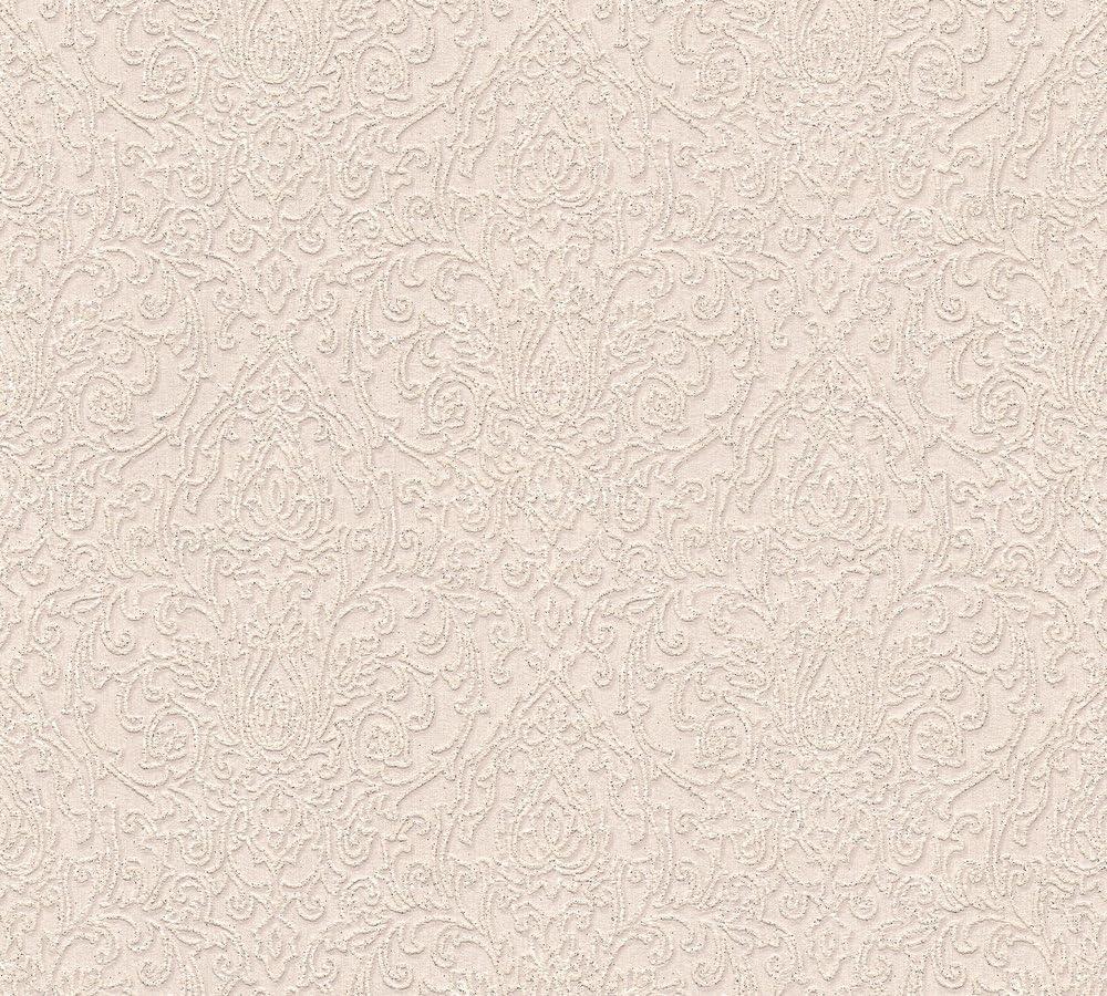 A.S Metallic Breite 10,05 m Cr/éation Belle Epoque Structure Profil Papier peint Beige x 0,53 m Rot L/änge