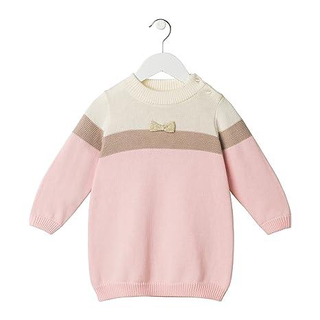 bahokids Kub niña contrastan color de punto jersey con lazo Talla:2T
