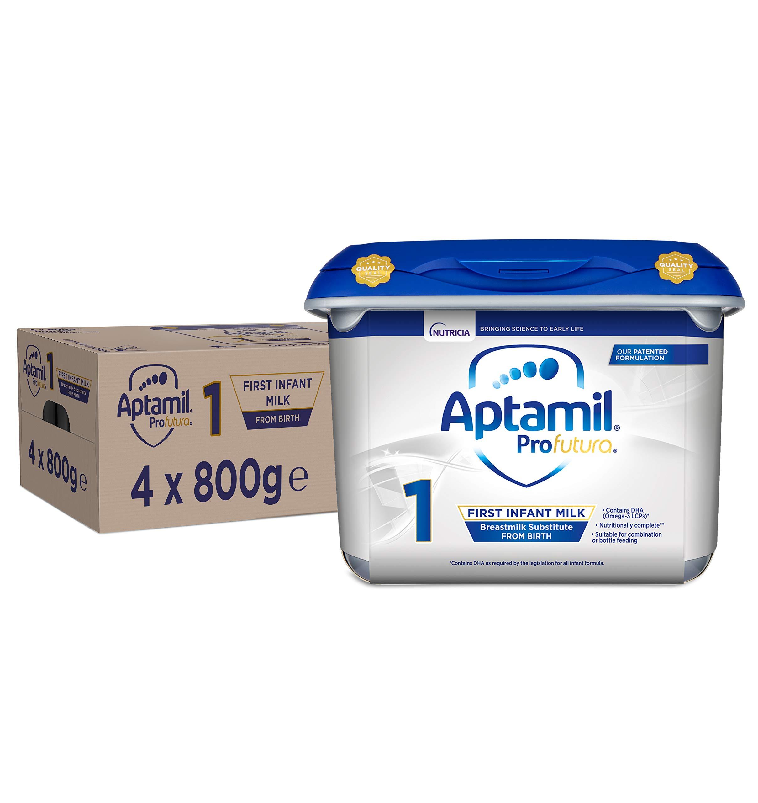 Aptamil Profutura 1 First Infant Baby Milk Powder Formula, from Birth, 800g (Pack of 4)