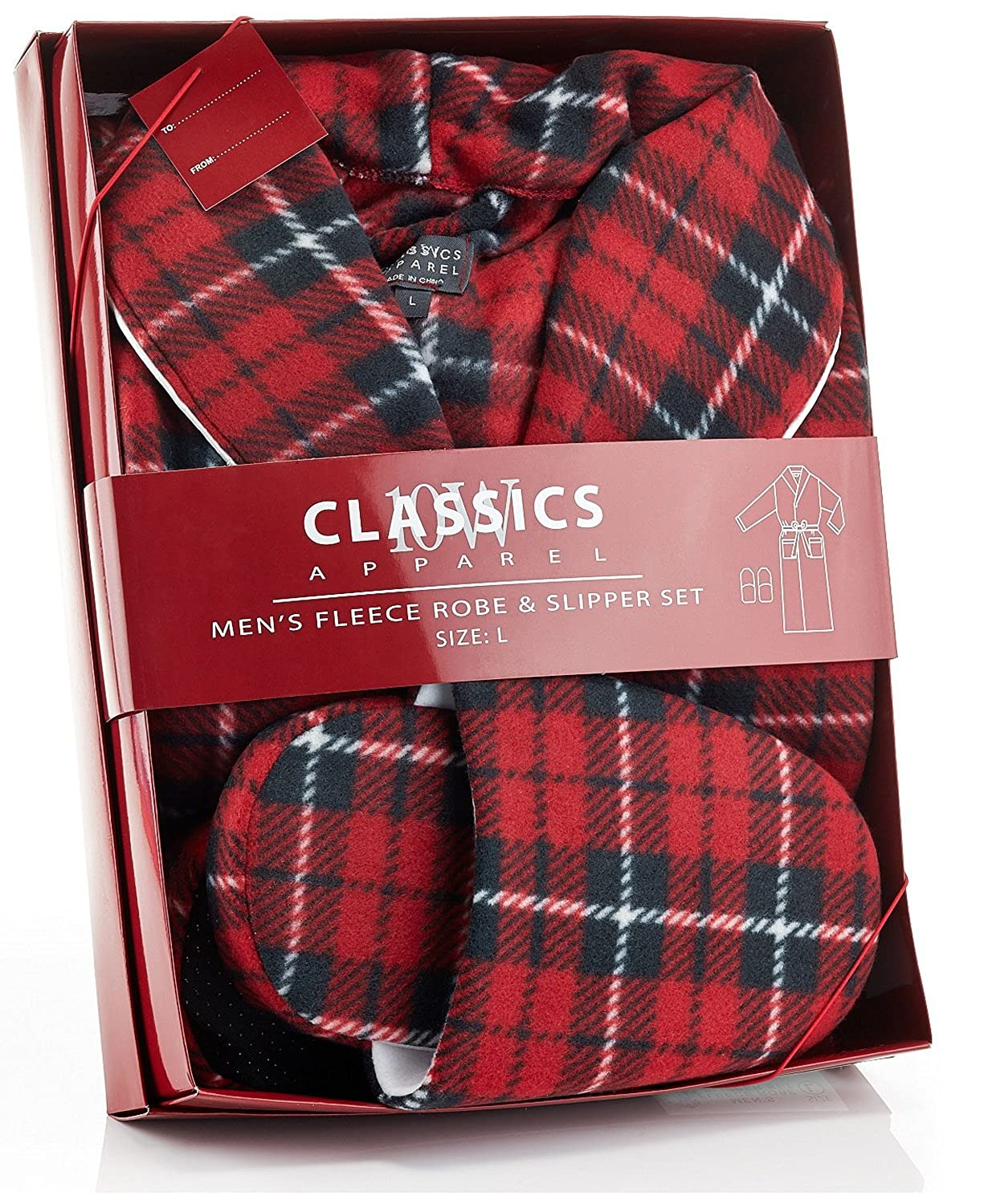 Men s Plaid Print and Solid Colors House Robe in 100% Polyester Soft Fleece  at Amazon Men s Clothing store  ca30f2f88