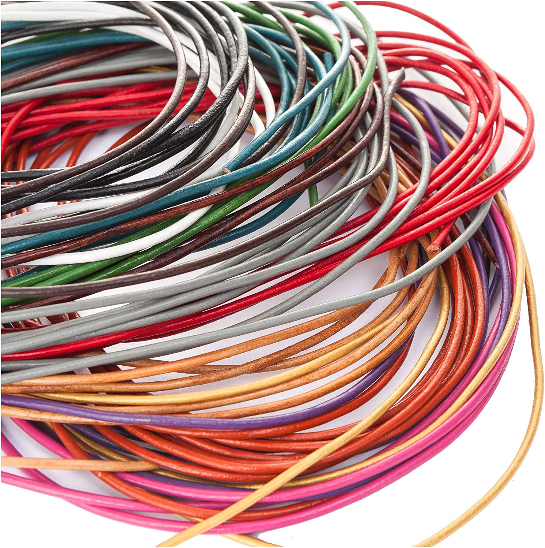 2 m echtes Lederband türkis 2 mm 0,95 EUR pro m