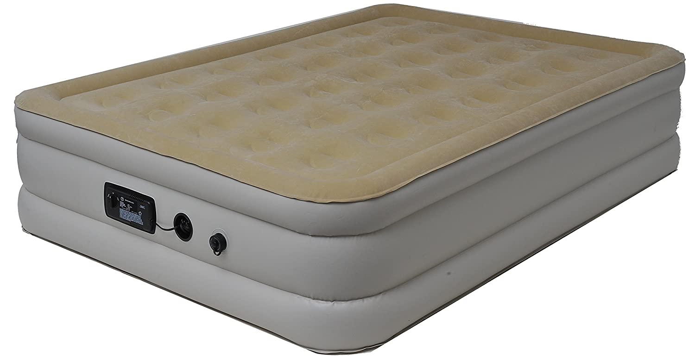 快適エアーベッド(エアーマット) ワイドシングル ベージュ(クリーム) B00H2CU10S クリーム サイズ:幅138×奥行188×高さ43cm(完成サイズ)