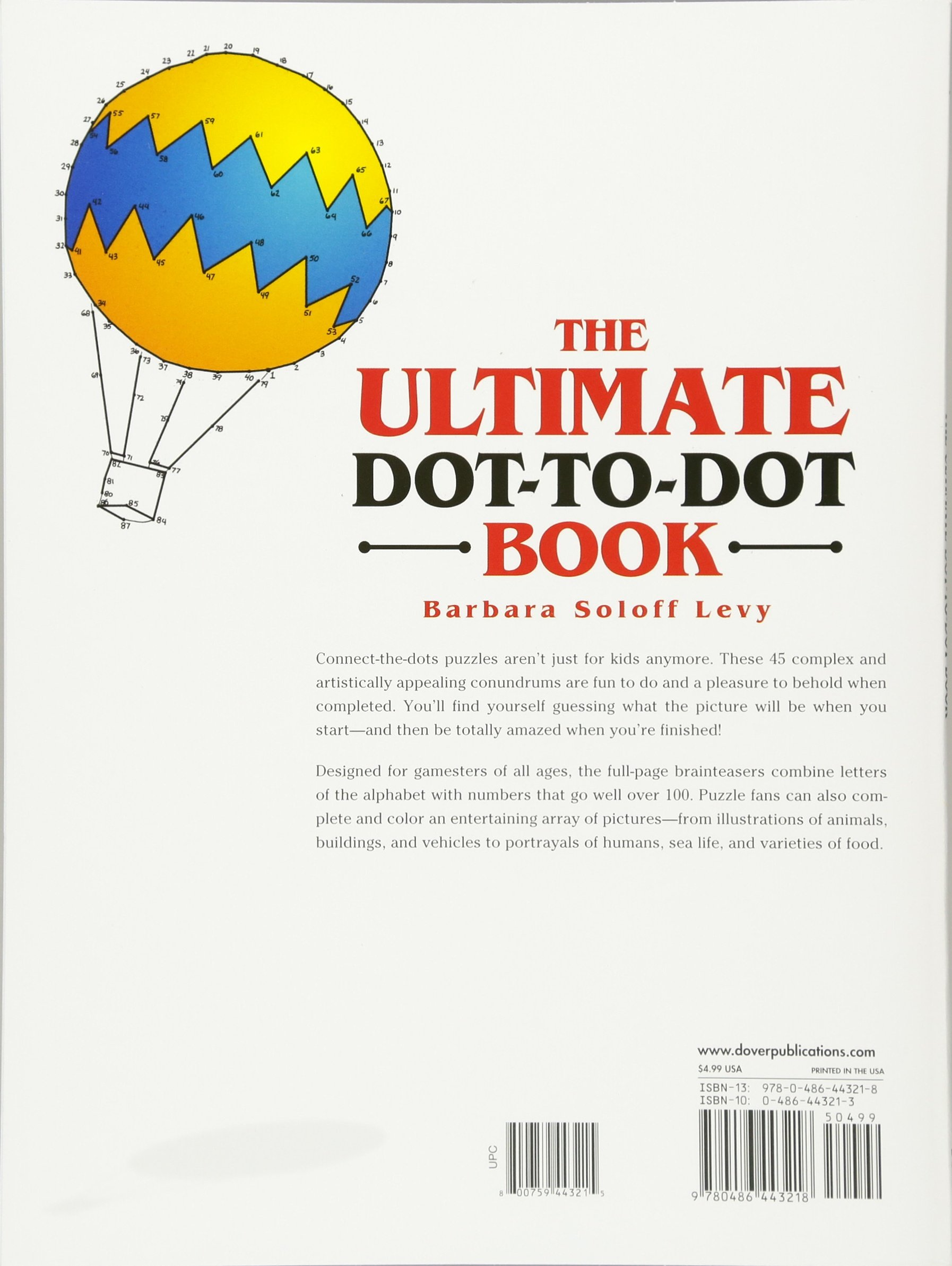 The ultimate dot to dot book dover childrens activity books the ultimate dot to dot book dover childrens activity books barbara soloff levy 9780486443218 amazon books ccuart Choice Image