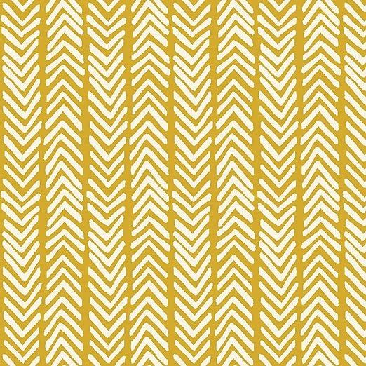 Algodón orgánico tela Herringbone tela por Monaluna – 0,5 Metre – MONAC04 HERRINGBONE en amarillo en tela blanca – Westwood Collection – 50 x 110 cm – 100% orgánico certificado lienzo: Amazon.es: Hogar