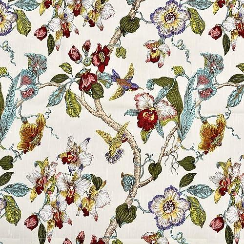 Lambrequin Ella Cotton Curtain Panel White