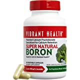 Vibrant Health - Super Natural Boron, Patented Calcium Fructoborate Specialized for Calcium Retention, 60 count