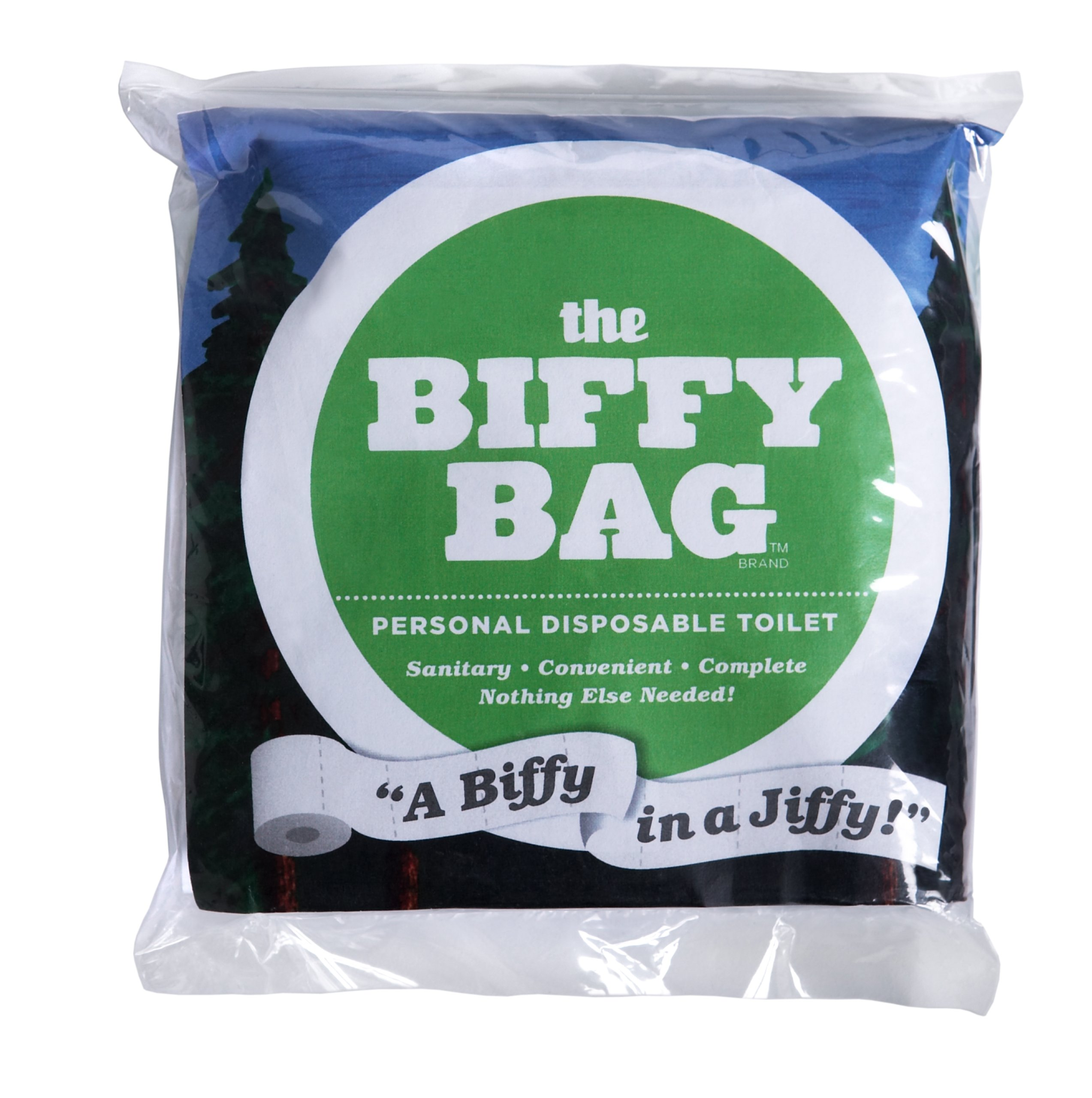 Biffy Bag Pocket Size Disposable Toilet (Pack of 1), Classic
