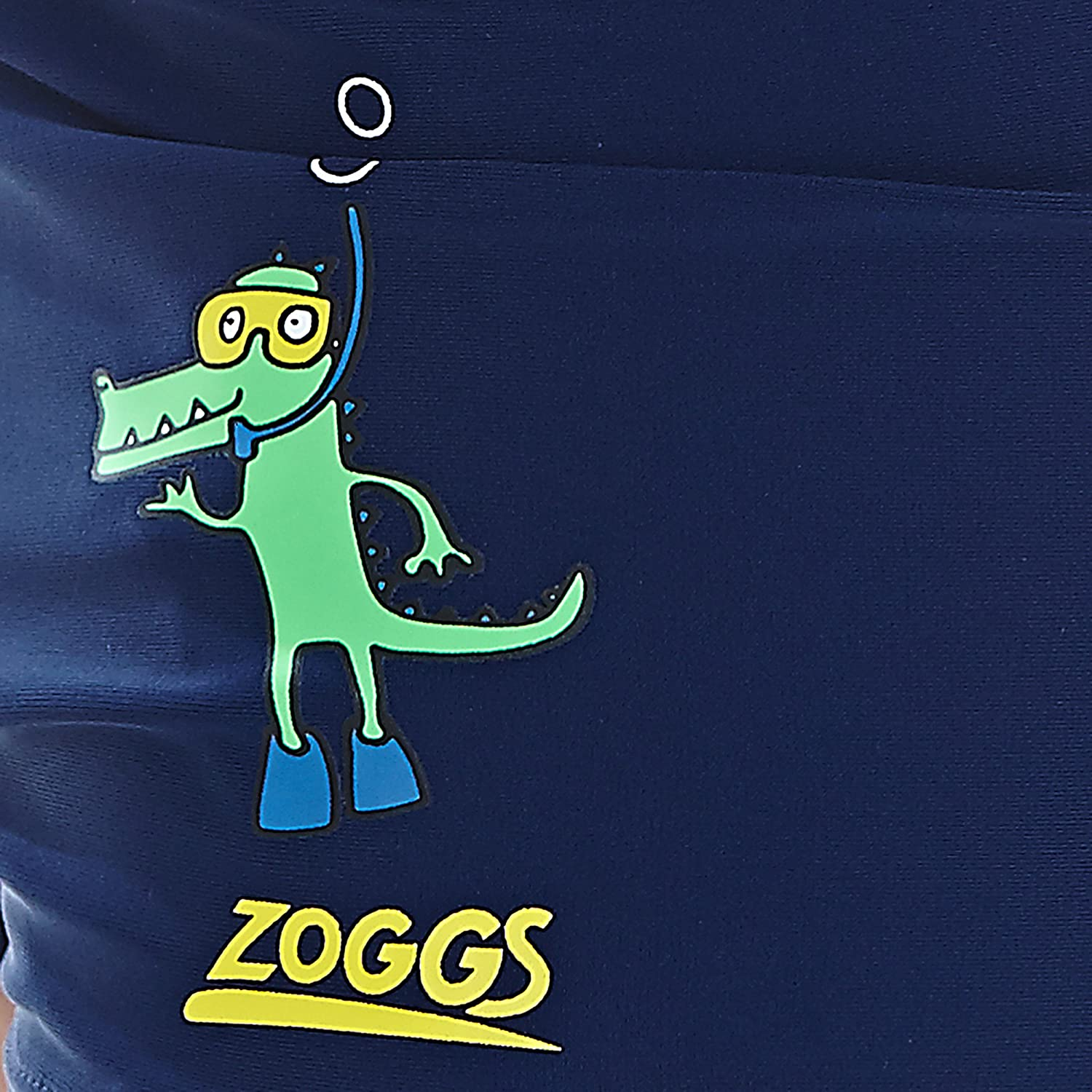 Zoggs Boys Snorkels Placement Hip Racer Swimming Trunks-Navy 20-Inch//3-4 Years