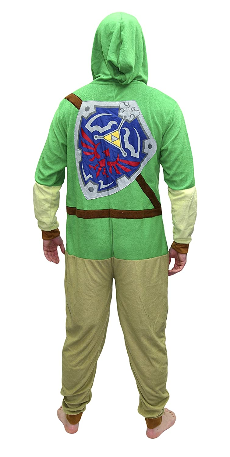 Amazon.com  Legend of Zelda MJC International Adult Link Hooded Onesie  Pajama Union Suit  Clothing dedb9cdf3