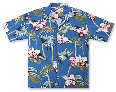 af0284ee Image Unavailable. Image not available for. Color: Paradise Found Orchid  Bamboo - Peri Hawaiian Shirt