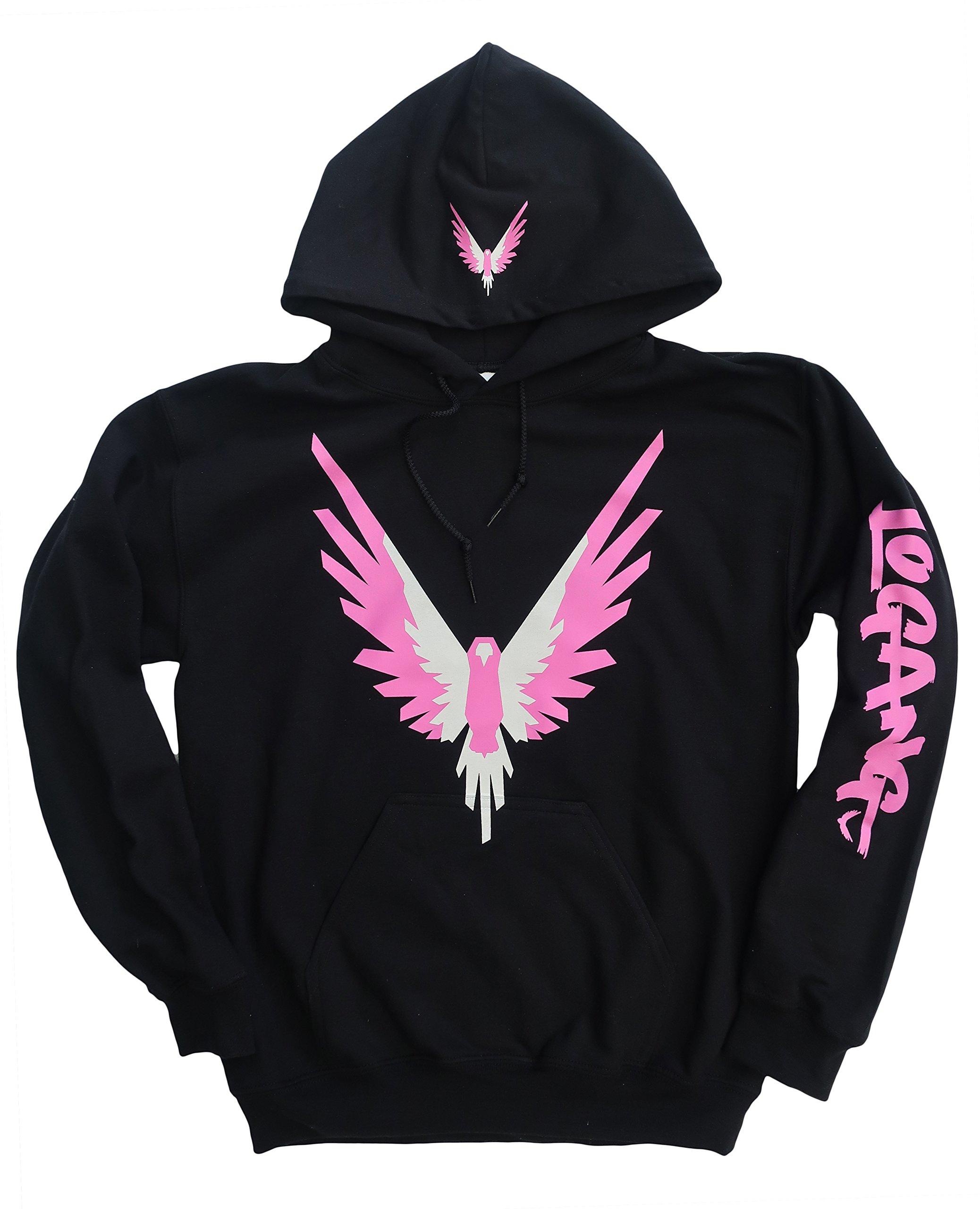 b795baeb0acf4 Logang Logan Paul Maverick Adult Black Hoodie (Pink and White Bird Logo)