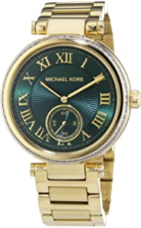 Michael Kors MK6065 Ladies Skylar Green Gold Watch
