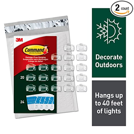 Amazon.com: Command - Clips para luces de exteriores ...