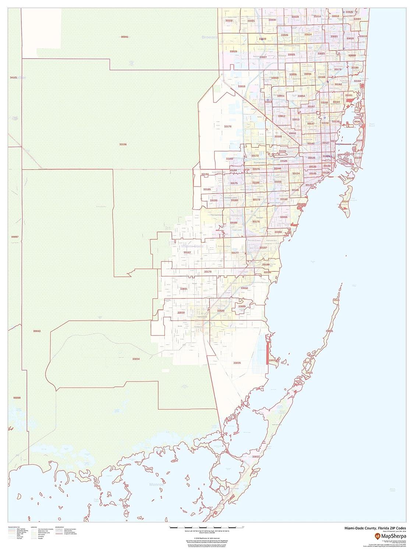 Amazon.com : Miami-Dade County, Florida Zip Codes - 36\