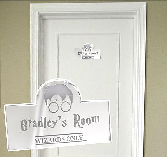 Personalised Door Name Plaque Boy Or Girls Bedroom Room Acrylic