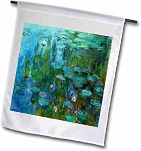 3dRose fl_49340_1 Monets Water Lillies Painting Garden Flag, 12 by 18-Inch