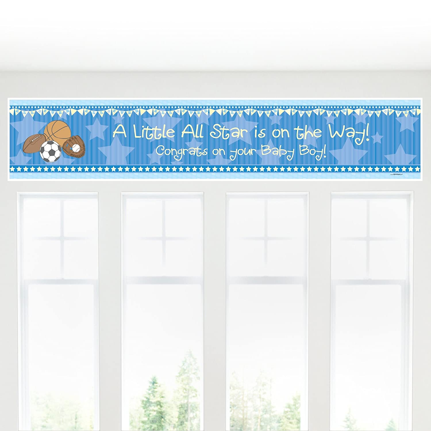 Baby Shower Banner Amazoncom All Star Sports Boy Baby Shower Decorations Party